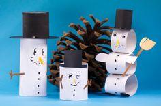 Let it snow – Winterlicher Klorollen-Schneemann!  Bald ist der Winter da. Bastle einen tollen Klorollen-Schneemann! Egal, ob genug Schnee liegt oder nicht – diesen klasse Schneemann kannst du immer bauen!  @arskreativ.de