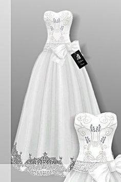 Sims 4 CC's - The Best: Wedding Dress by CrownFashion: