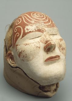 Death Mask on a Woman's Head  Epoch. Period: Huno-Sarmatian Era Date: Tashtyk Culture. 3rd - 4th century Place of finding: Oglakhty VI Burial Mound, Grave No. 4 (excavations by Prof. L.R. Kyzlasov) Archaeological site: South Siberia, Khakassia Republic, left bank of the River Yenisei, near Mount Oglakhty