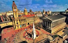 #Birmingham England Chamberlain Square named after former Lord Mayor and Birmingham MP Joseph Chamberlain, a former Colonial Secretary in Asquith's Liberal Government and the founder of the University of Birmingham where The Clock Tower or #Campanile is named 'Old Joe' in his honour. It is the tallest free-standing clock tower in the world at over 300 feet