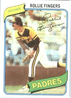 1980 Topps # 651 Rollie Fingers San Diego Padres Baseball Card by Topps. $2.95. 1980 Topps #651 - Rollie Fingers