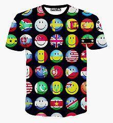 2d8f221421e781 Women Men Print 3D Emoji T Shirts Smiley Emotion Lovely Funny Cartoon T- Shirt Short Sleeve Tops Tee For Boys Girls