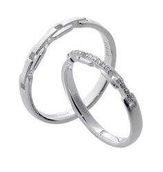 #LoveMarkPH Slim Belt Silver Couple Ring: Made with 92.5% silver & 13 pieces of 1.0mm cubic zirconia [Item code: lr0005]