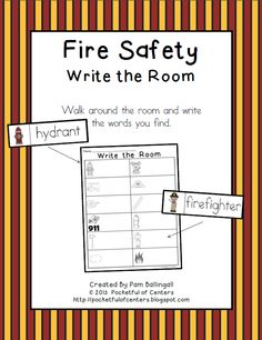 Fire Safety Write the Room $1.25