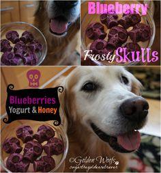 Halloween Tasty Treat Blueberry Frosty Skulls