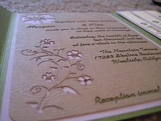 these invites are to die for!  i want a laser cutter!