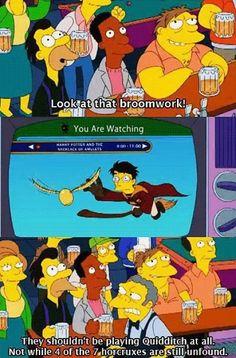 Moe has his priorities straight.