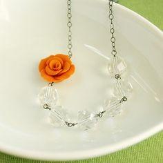 Pretty orange necklace