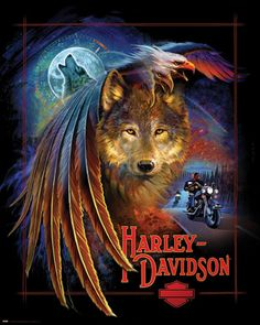 Harley Davidson Motorcycle Posters   True Grit