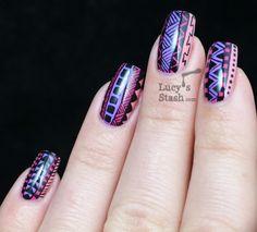 Lucy's Stash - Tribal Print Nail Art