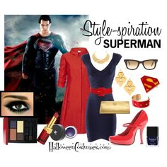 Show your reds and blues in style. A long coat mimics Superman's iconic cape, while thick frame give a nod to his alter ego - Clark Kent Mom Costumes, Last Minute Halloween Costumes, Dress Up Costumes, Character Outfits, Movie Outfits, Halloween Fashion, Halloween Makeup, Disney Themed Outfits, Fashion 101