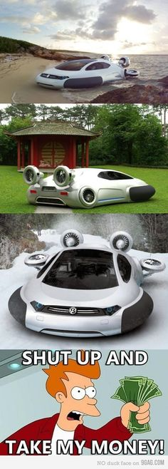 Funny pictures about Volkswagen Aqua. Oh, and cool pics about Volkswagen Aqua. Also, Volkswagen Aqua photos. Cars Vintage, Vw Camping, Kdf Wagen, Automobile, Flying Car, Futuristic Cars, Futuristic Vehicles, Future Car, Amazing Cars