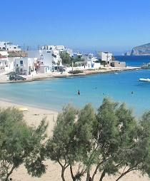 KOUFONISSIA  The Koufonissia Islands (Koufonisia, Koufonissi, Koufonisi) are part of the Small Cyclades Islands, also known as the Little Cyclades, the Minor Cyclades and the Lesser Cyclades. Koufonissia are really two islands – Ano and Kato Koufonissia. Ano (Upper) is where it all happens, ferries call here, accommodation is here, shops are here.In spite of its tiny size, Koufonissia is a place to visit and offers high quality beaches and cosy island atmosphere.