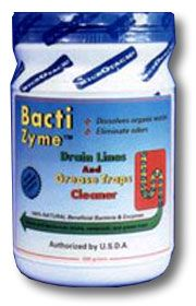 Bactizyme - drain lines and grease trap cleaners