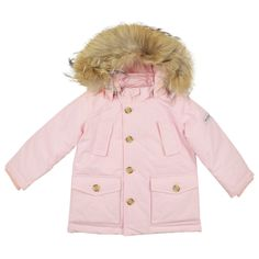 MY 1st ARCTIC PARKA  BABY FUR HOODED LIGHT PINK DOWN ARCTIC PARKA From www.kidsandcouture.com
