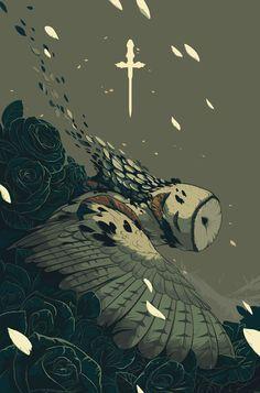 Purge by Alex Dos Diaz #illustration #owl