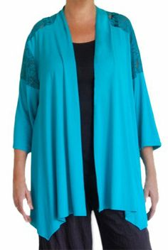 6d181586a8a86 Fashion Fulfillment Women s Plus Size Cardigan Jacket 3 4 Sleeve 30 32  Tosca Fashion