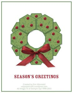 A Stylized Christmas Wreath by WIP Paper Crafts - Cards and Paper Crafts at Splitcoaststampers
