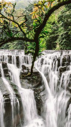 Waterfall, current, rocks, nature, 720x1280 wallpaper