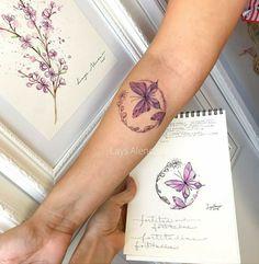Butterfly tattoo But with monarch life cycle! Future Tattoos, New Tattoos, Body Art Tattoos, Small Tattoos, Cool Tattoos, Butterfly Wrist Tattoo, Wrist Tattoos, Tattos, Pretty Tattoos