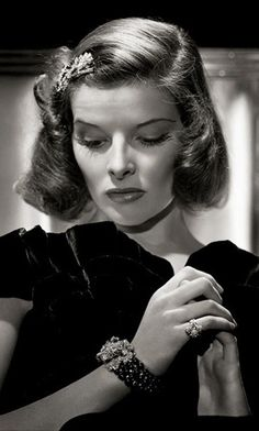 More 1940s hair & make up inspiration this time from Katharine Hepburn