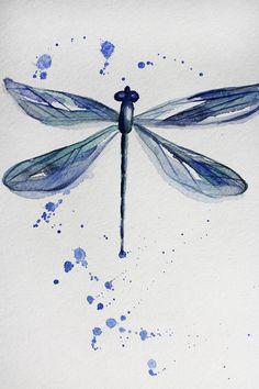 Originele aquarel dragonfly. Aquarel art. Dit is origineel aquarel schilderij toont een kleine blauwe libel. Ik hoop dat je genoten hebt van deze aquarel. Schilderij is ingelijst. De copyrightinformatie verschijnt niet op het schilderij het is ondertekend, met een adellijke titel en