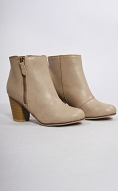 stepping up bootie - taupe
