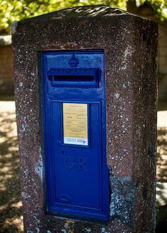 Blue Pillar Box by Paul Lloyd