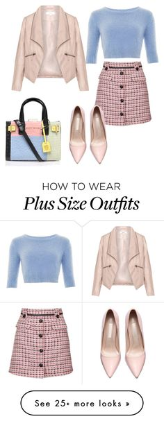 """""""outfit #10"""" by ary-polyvore-outfits on Polyvore featuring Topshop, Zizzi, Kurt Geiger, women's clothing, women's fashion, women, female, woman, misses and juniors"""