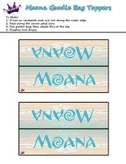 Free Moana Printable Crafts, Activities and Party Supplies