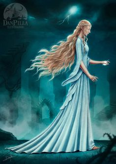 Galadriel in Dol Guldur. I'm proud to have made this hair ^^ Galadriel Hobbit Art, O Hobbit, Legolas, Into The West, High Elf, Character Sketches, Jrr Tolkien, Dark Lord, Middle Earth