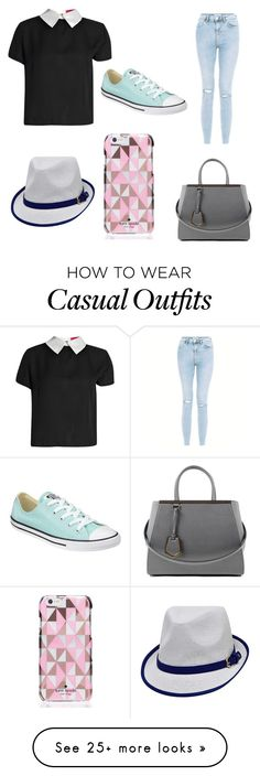 """""""Casual Day"""" by purplehoneybeefashion on Polyvore featuring Fendi, Converse and Kate Spade"""