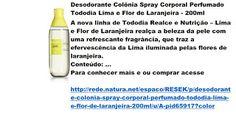 Rede Natura Espaco Resek: Desodorante Colônia Spray Corporal Perfumado Todod...