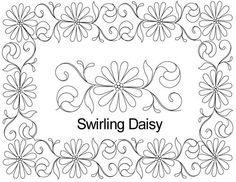 AnneBright.com - Shop | Category: Digitized Designs | Product: Swirling Daisy border set