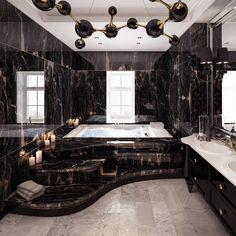 Luxury Bathroom Designs That You Love To Copy - House Interior Ideas bathroomdesigns Dream House Interior, Luxury Homes Dream Houses, Dream Home Design, Modern House Design, Home Interior Design, Modern Mansion Interior, Luxury Interior, Interior Ideas, Dream Bathrooms