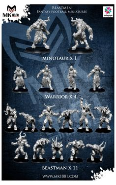 Launches Himeros Fantasy Football Team On Indiegogo Football Trophies, Football Team, Fantasy Football Rings, Blood Bowl Teams, Blood Bowl Miniatures, Bowl Game, Space Wolves, Fantasy Miniatures, Product Launch