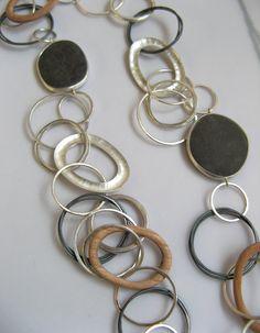Pebble & Wood Hoop Necklace, 2007