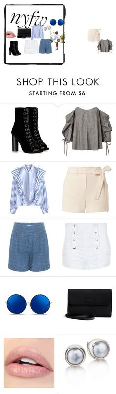 """Rocking the Sidewalk"" by pkgabriel on Polyvore featuring Barbara Bui, Helmut Lang, 10 Crosby Derek Lam, Pierre Balmain, Matthew Williamson, Vera Bradley, StreetStyle and NYFW"