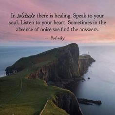 In solitude there is healing. #soulsearching #quote #quotes