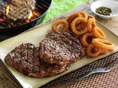 Ready Team Rib-eyes Recipe....yummmm!! I love Rib-Eye Steaks....with baked potato, corn on the cob and fresh rolls!!!