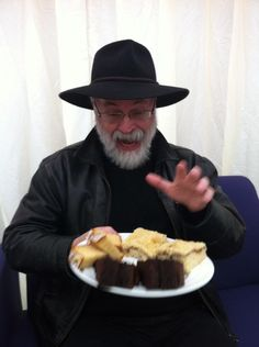 Terry at the Cheltenham Literary Festival today.