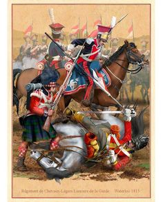 Polish Lancers attacking Scottish Highlanders and Scots Greys cavalry.  Стена | ВКонтакте