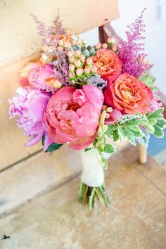 bright bouquet we ❤ this! moncheribridals.com #weddingbouquets #colorfulbouquets #brightbouquets