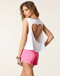 New 2014 Women Camisole Solid Color Tank Top Casual Women Back Heart Shape Hollow Out Brand Tank Top Fashion Crop Top In Stock-in Tank Tops from Apparel & Accessories on Aliexpress.com