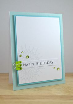 Happy Birthday - love the colours and layout