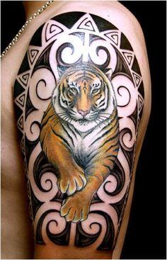 Tatuaggio giapponese con la tigre