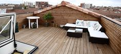 Terrasse tropézienne d'une surélévation réalisée pour nos clients en centre ville de Toulouse