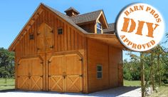 Pioneer barn! This is a quality gable-style barn in a small economical package.
