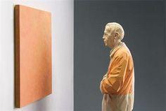 Wooden Sculptures by Willy-Verginer Orange