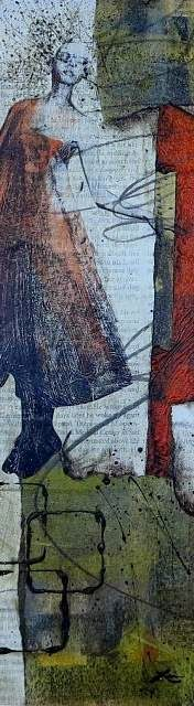 Collage art of Laura Lein-Svencner: Collage Demo from Class